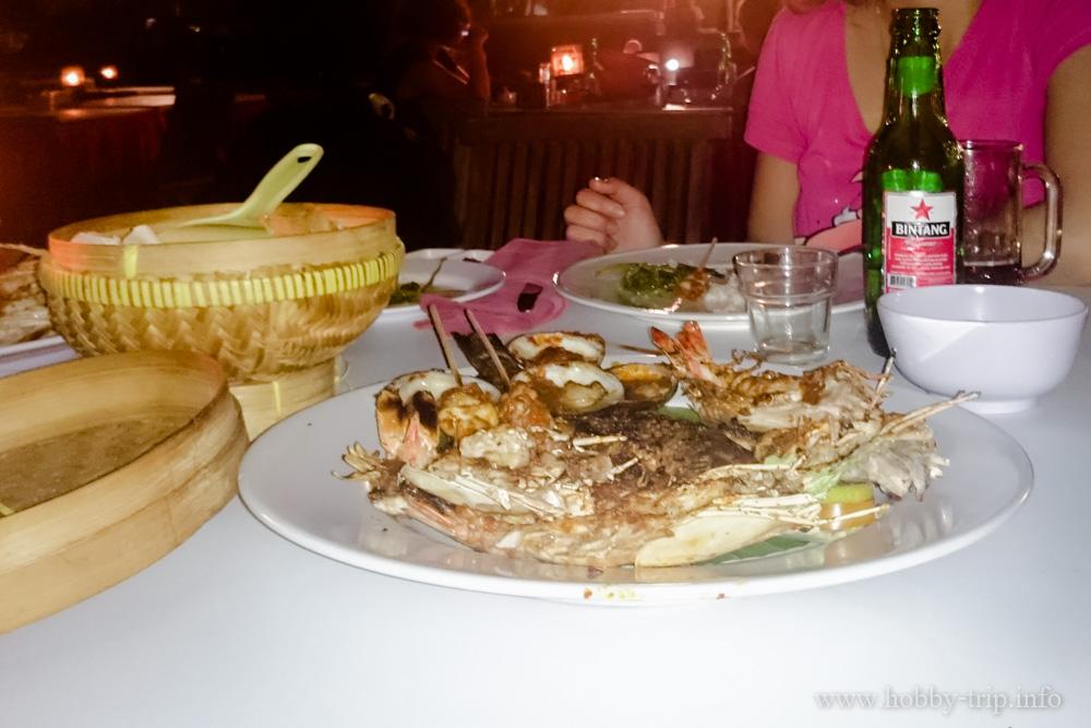Вечеря на брега на Индийския океан на Jimbaran - остров Бали