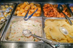 Картофено пюре, ориз и царевица в Sky Garden
