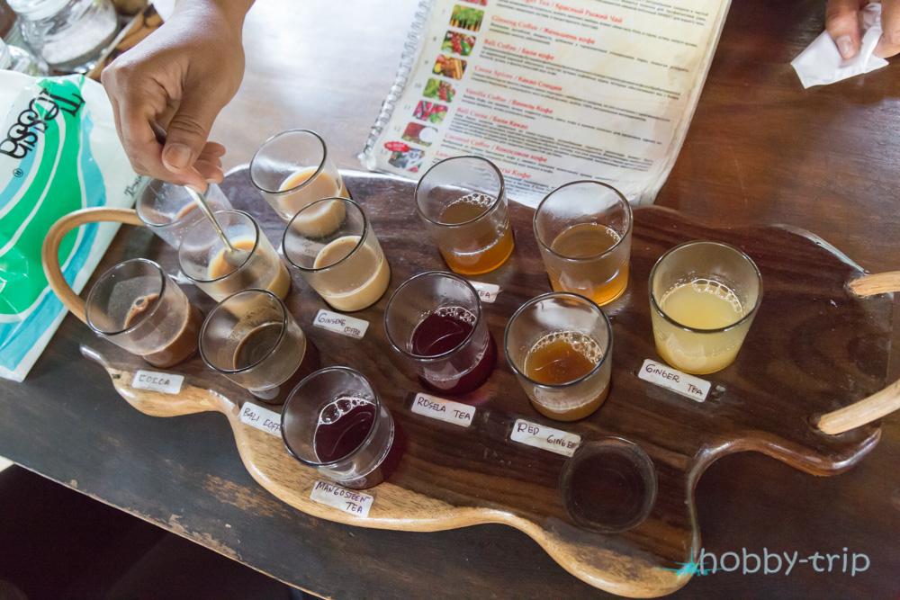 Видове чай и кафе в Бали - снимки