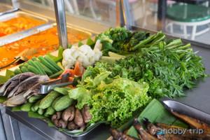Fresh vegetables in Kuala Lumpur, Malaisia
