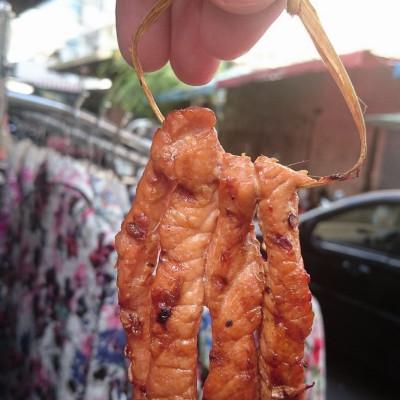 Печено свинско на скара в Банкок